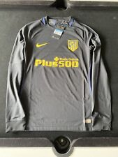 Authentic Nike Atletico De Madrid Player Issue Long Sleeve Away Shirt 2016/17