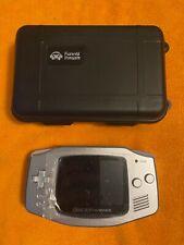 Silver Aluminum GameBoy Advance w IPS Screen & Rechargeable 2000mAh Battery