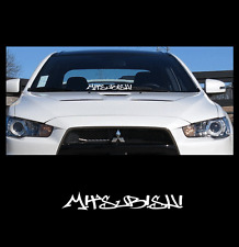 "Mitsubishi Windshield Decal Sticker 23"" jdm Lancer low import sti evo illest"