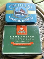 BOITES VIDES TABAC METAL SERIGRAPHIEES  CRUISE LINE CIGARETTES MEMPHIS TRADITION