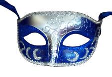 Men's Venetian Masquerade Mask Purple Silver Black Green Blue Red White Gold