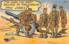 (982)  Vintage Military Comic Postcard U.S. Army