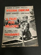 1918 A FIGHT FOR MILLIONS UNCUT PRESSBOOK WILLIAM DUNCAN VITAGRAPH SERIAL