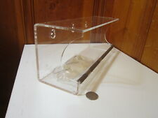"""New listing Tranquil Outdoors Large 12"""" Bird Seed Feeder Window Clear Acrylic 3 Suction Cups"""