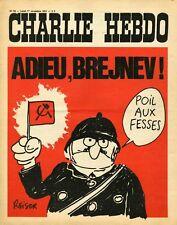 """CHARLIE HEBDO N°50 du 1/11/1971"" REISER : ADIEU, BREJNEV ! (POIL AUX FESSES)"