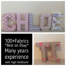Fabric letters Wall Art Handmade Nursery name, personalised, girl, boy