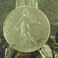 CIRCULATED 1976 1 FRANC FRENCH COIN (101718)1.....FREE DOMESTIC SHIPPING!!!!!
