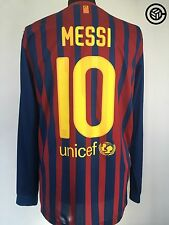MESSI #10 Barcelona Nike Long Sleeve Football Shirt Jersey 2011/12 (L)