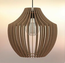 Lampadario rustico moderno in legno Design Vaso Lampada Sospensione Pendente