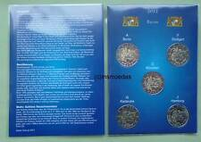 Alemania ERB 5x 2 euro 2012 Baviera monedas conmemorativas Commemorative adfgj münzkarte