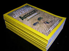 12 NATIONAL GEOGRAPHIC MAGAZINE COMPLETE SET 2007 ~ INCLUDES ALL SUPPLEMENTS