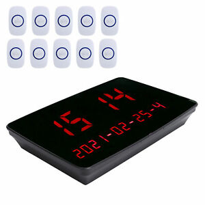 Wireless Calling System For Pager Restaurant Waiter Server Pager+10 Button SPG