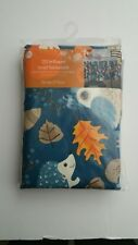 "Vinyl Tablecloth Blue with Critters 70"" Round 100% PEVA with Non Woven Backing"