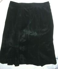Max Mara Black Real Leather Suede Skirt Size M L