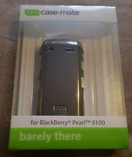 Blackberry Pearl 9100 barely there case by CASE-MATE metallic silver