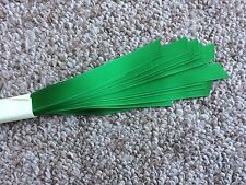 Grosgrain Hat Band Pony Tail Hair Band Craft Ribbon Pkg 25 Straight Edge-Green