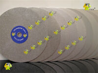 "10"" INCH Grit 150 Diamond coated Flat Lap wheel Jewelry grinding polishing disc"