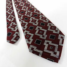 "Robert Talbott Studio Tie | Leon Sugar's Red Made in USA Silk Necktie 58"" Long"