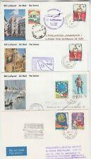 MALTA 1989 acceptance FFCs BOLOGNA-FRANKFURT, BRUSSEL-STUTTGART, LISBOA-DAKAR ++
