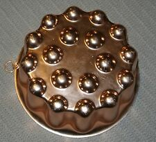 Vintage Copper Color fluted w/circles on bottom Jello Mold  4 cup capacity K