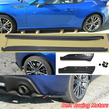 Bottom Line CS Style Side Skirts + Aero Rear Aprons Fit 12-18 FR-S / Toyota 86