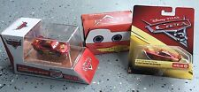 DISNEY CARS LOT OF 3 MCQUEEN TARGET EXCLUSIVE CASE, RED BOX, RUST-EZE CENTER
