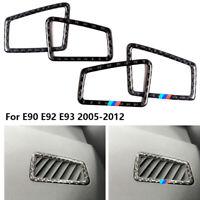 1X Carbon Fiber Dashboard Air Vent Cover Frame Trim for BMW E90 E92 E93 3 Series