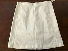 "Women's Callaway Golf White 18"" Skort skirt CW65172 Pockets Side Slit Cotton NEW"