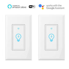 Smart WIFI Light Switch, Works with Alexa, Google Home, IFTTT, No hub need 2pack