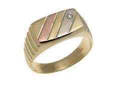 ANELLO ORO 18 kt anelli fidanzamento uomo in pietre 277 zircone made in italy