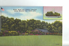 "Vintage Post Card - GIRARD OHIO -""Shelter House & Veteran's Memorial"" Unused"
