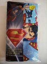 Superman Underwear Underpants Boys 3 Brief Pk Size 6 Super Speed Emblem NIP
