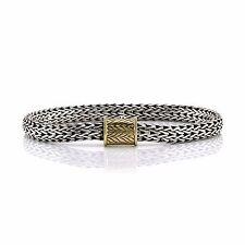 John Hardy Classic Bracelet in Sterling Silver and 18K Yellow Gold | FJ