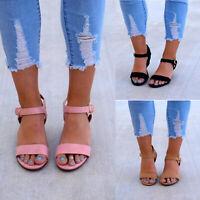 Women Ladies Wedge Heel Sandals Gladiator Buckle Ankle Strap Summer Casual Shoes