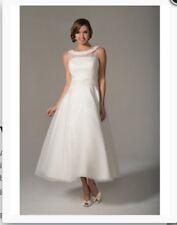 Size 16 Tea Length Venus Bridal Wedding Dress White