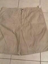 Wrangler Men's Size 46 Flat Front Shorts Beige/Light Tan 100% Cotton NWT