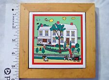 HICKORY FARMS FRAMED TILE  HOMESTEAD COLLECTION