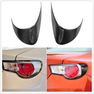 Rear Carbon Fiber Rear Lights Eyebrows Cover Set for Scion FRS Subaru BRZ GT86