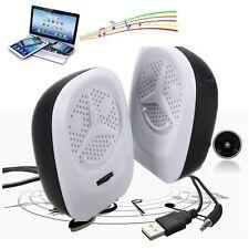 E1800 2pcs Mini USB Portable Stereo Music Player Speakers for MP3 Laptop PC iPod