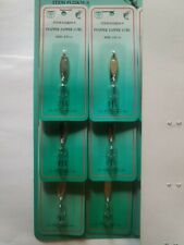6 LURES Snapper Zapper Spoon SILVER BRAND NAME STYLE 1/12 oz FREE USA SHIPPING