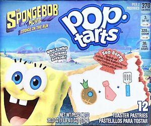 Pop Tarts The SpongeBob Movie 12 Toaster Pastries Sea Berry Flavor 20.3 Oz