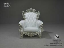 HaoyuToys Furniture Model 1/6 White Single Sofa Chair F 12'' Action Figure