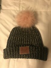 7153ef4e87182 LOVE YOUR MELON Rare Pink Pom Beanie Black Speckled