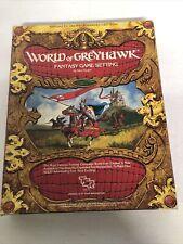 WORLD OF GREYHAWK  BOX SET DUNGEONS & DRAGONS AD&D TSR 1015 - 1 2nd edition