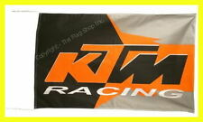 KTM RACING FLAG BANNER  950 990 sx exc xc 50 65 85 5 X 3 FT 150 X 90 CM