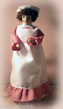 Dolls House Victorian Servant Maid Cook in Pink Porcelain People Streets Ahead