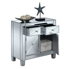Convenience Concepts GC Vineyard 2 Drawer Cabinet, Silver - 413306S