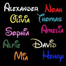 Personalised Custom Name Quote Vinyl Cut  Stickers Wall Decal Baby Kids