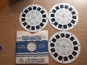 1971 BONANZA TV SHOW made in Belgium VIEWMASTER 3 reels BB-487