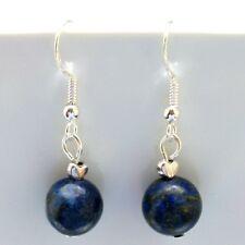 Lapis Lazuli Gemstone Earrings Drop Dangle Style Sterling Silver Hooks New LB259